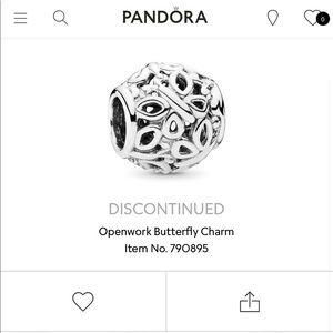 Pandora Openwork Butterfly Charm